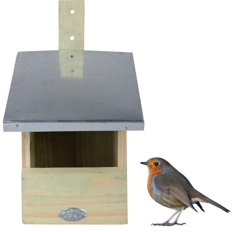 Robin Nest Box Irish Garden Birds